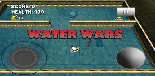 安卓水上射击游戏《水上战争》驾驶战艇湖泊中战斗