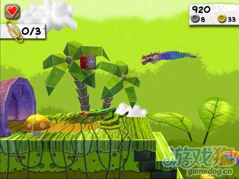 iOS清新可爱风休闲小游戏推荐《纸片怪兽》