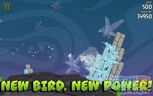 《愤怒的小鸟太空版》(Angry Birds Space)游戏画面