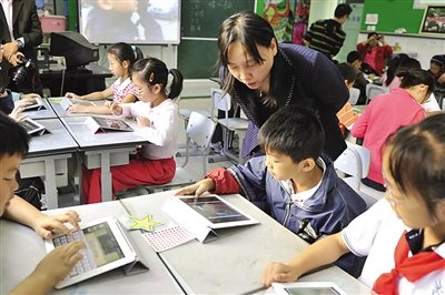 苹果iPad平板深入小学课堂的传道解惑