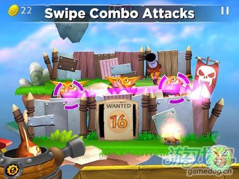 iOS爽快的怪物射击游戏《小龙斯派罗的云际巡逻》