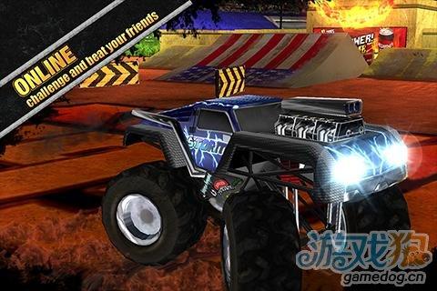 安卓游戏《疯狂引擎》体验暴力飞车特技