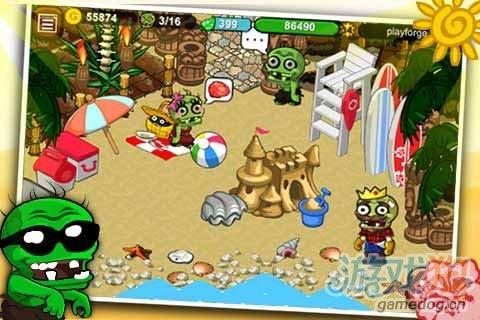 《僵尸农场》(Zombie Farm)游戏画面