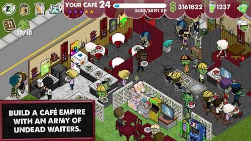 《僵尸咖啡厅》(Zombie Cafe)游戏画面