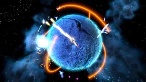 街机空间飞行射击游戏《冲撞航行》Android版下载