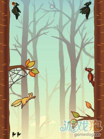 iOS一键躲避休闲游戏《饥饿的小松鼠》超越NinJump