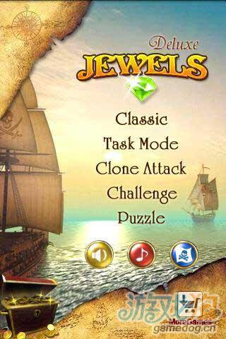 《宝石消除》(Jewels Deluxe)游戏画面
