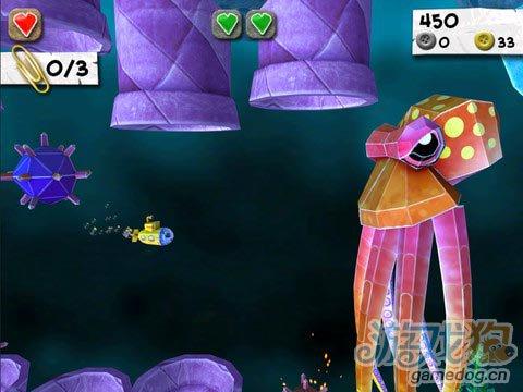 iOS动作过关游戏《纸片怪兽》消灭小怪物