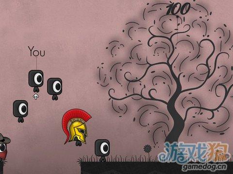 iOS欧式水墨风格跑酷游戏《扎堆跑酷》酷炫动作秀