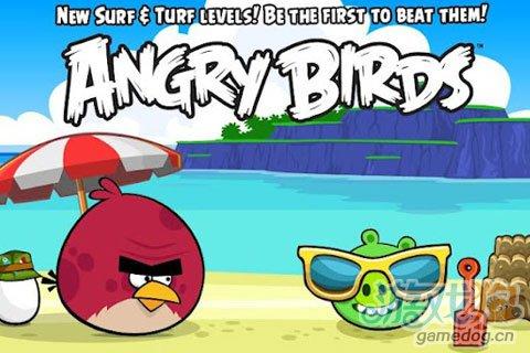 《愤怒的小鸟》(angrybirds)游戏画面
