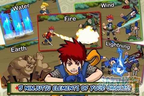 《忍者传说》(Ninja Saga)游戏画面