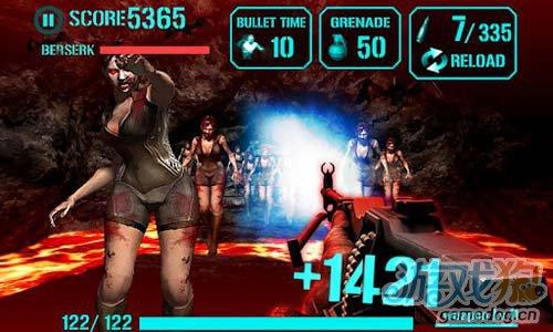 《枪火僵尸》(iGun Zombie-Reloaded)游戏画面