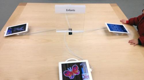 Apple Store儿童展台上的iMac已经替换成iPad