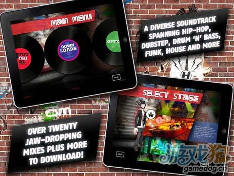《酷炫 DJ》(Skillz for iPad)游戏画面