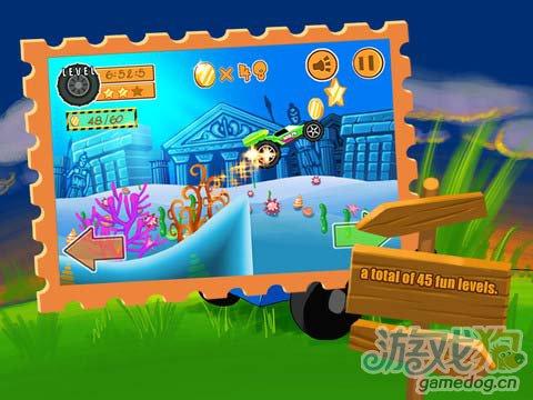 《疯狂大脚车》(BigFoot, Go Home!)游戏画面