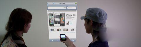 微型扫描仪让iPhone变身大荧幕!