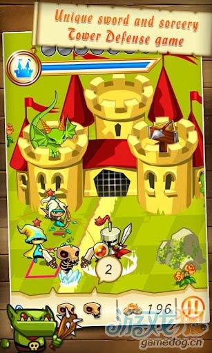 《梦幻王国防御》(Fantasy Kingdom Defense)游戏画面