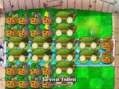植物大战僵尸燃烧的十字:植物12炮阵火力全开
