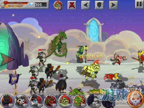 《怪兽之战》(Monster Wars)游戏画面