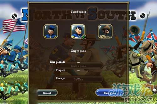《南北战争》(The Bluecoats – North vs South)游戏画面