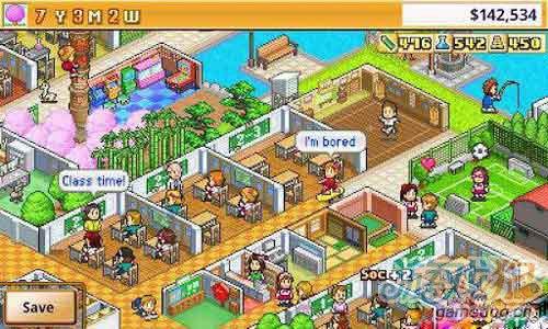 安卓平台经典像素经营模拟类游戏《口袋学院》