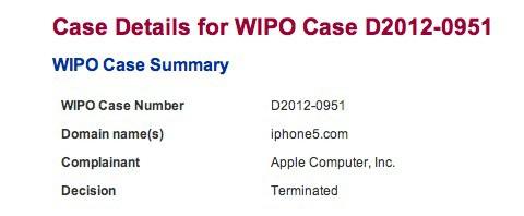 苹果获得iPhone5.com所有权 不拥有iPad.com