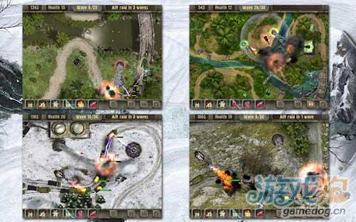 《战地塔防》(Defense zone HD )游戏画面