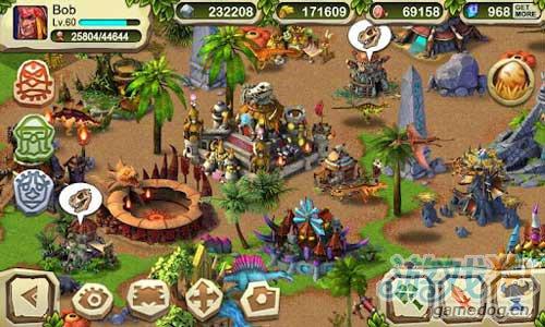 《恐龙战争》(Dinosaur War)游戏画面