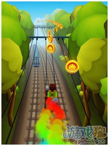 《地铁冲浪者》(Subway Surfers)游戏画面