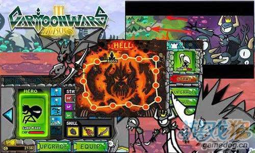 《卡通战争》(Cartoon Wars)游戏画面