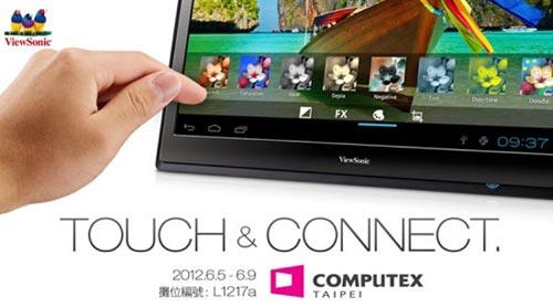 """优派22英寸Android ICS平板""""崭露""""Computex"""
