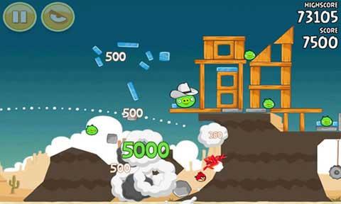 《愤怒的小鸟 》(Angry Birds )游戏画面