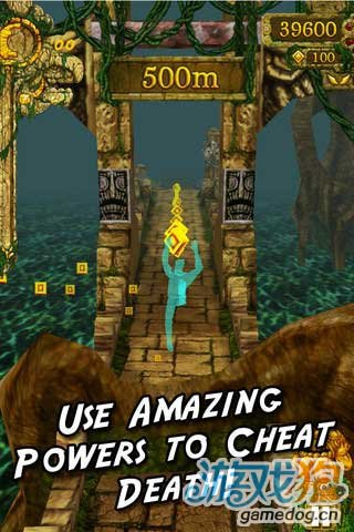 《神庙逃亡》(Temple run )游戏画面