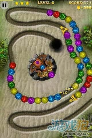 《七彩祖玛》(Marble Blast!)游戏画面