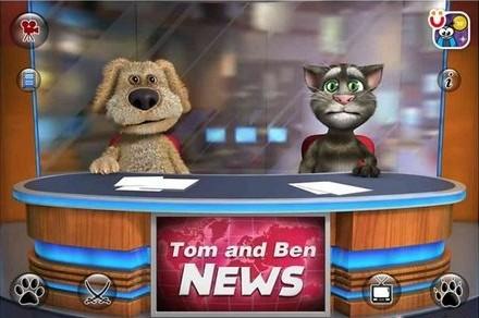 会说话的汤姆和本播报新闻