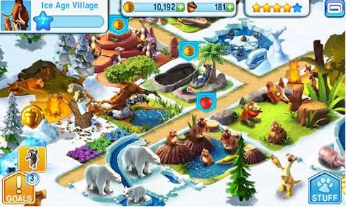 《冰河世纪》(Ice Age Village)游戏画面