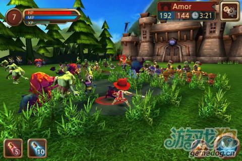 大型Q版安卓RPG类游戏《攻城大师》600人攻城对战
