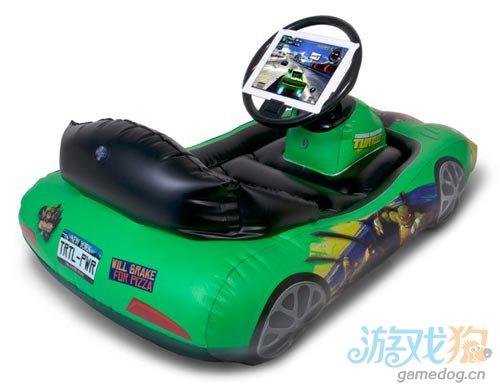迷你卡通充气汽车 让孩子体验真实iPad游戏