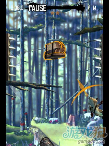 iOS跳跃游戏浣熊大作战 解放森林动物