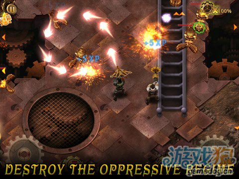 Glu养成类射击游戏:勇猛二人组 Men vs Machines