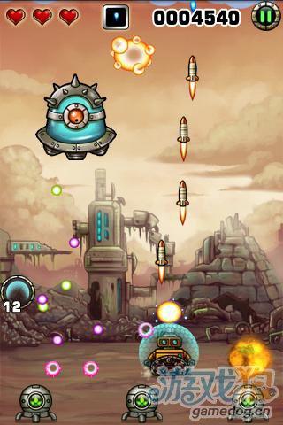 安卓经典射击游戏:小小机器人 对抗外星人的侵略2