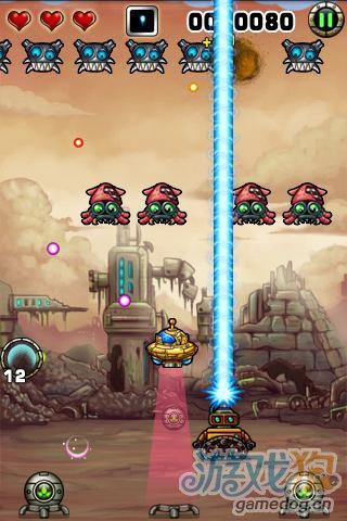 安卓经典射击游戏:小小机器人 对抗外星人的侵略3
