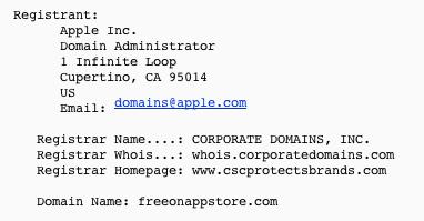 苹果注册新域名 为用户提供数字免费应用?2
