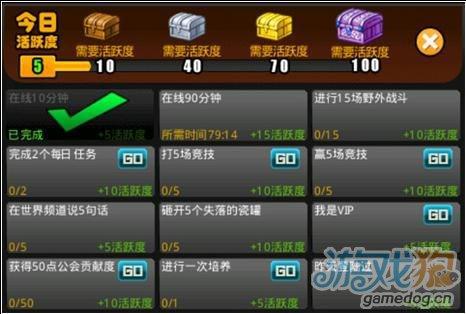休闲手机网络游戏《星弹堂OL》活跃度奖励制说明