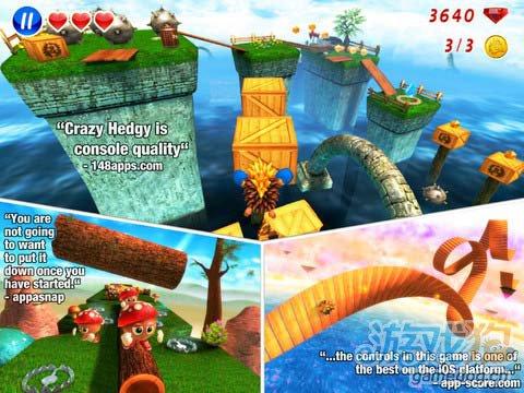 iOS动作游戏:疯狂刺猬Crazy Hedgy新手试玩评测3