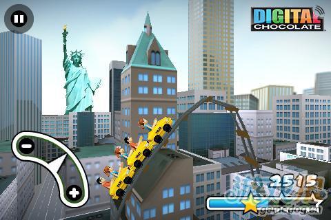 安卓惊险竞速类游戏:纽约疯狂3D过山车 更新评测2