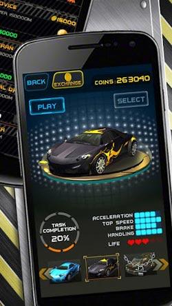 安卓竞速游戏:夺命狂飙Death Racing v1.05版更新2