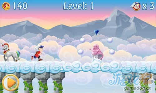 安卓休闲游戏评测:追云的姑娘 The Cloud Runner图3