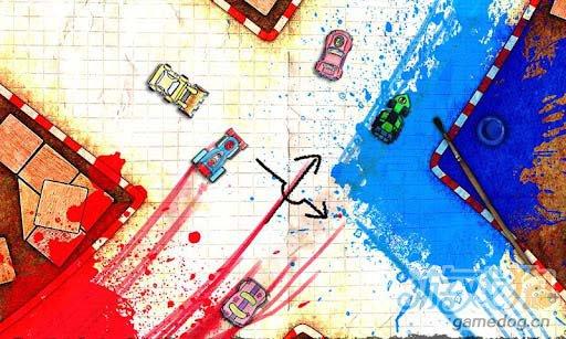手绘涂鸦风格竞速游戏:纸质赛车 评测1
