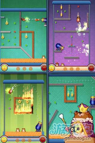 休闲游戏:仓鼠大炮 快来帮仓鼠收集更多的金币吧2